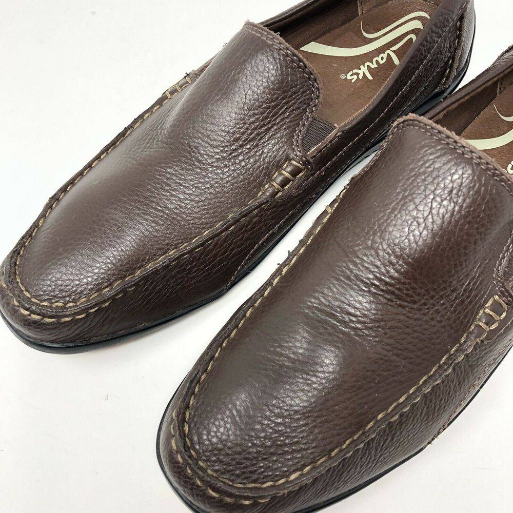 Clarks 9.5 Leather Boat Loafer Shoes