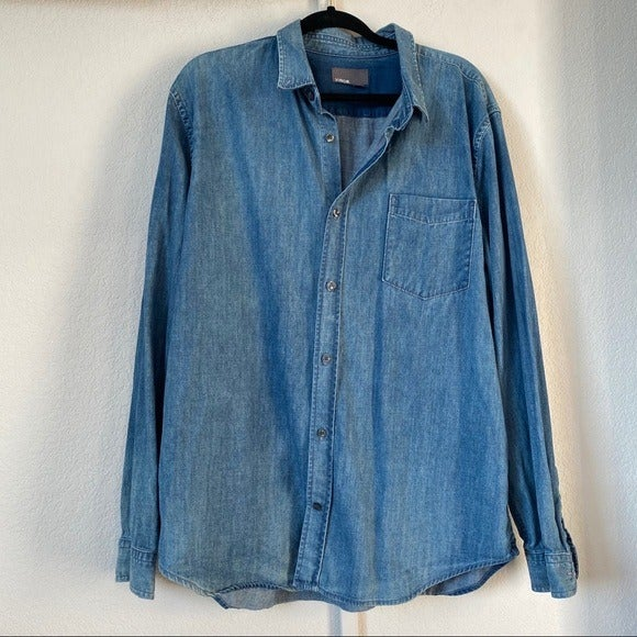 VINCE XXL Button Down Blue Light Men's X