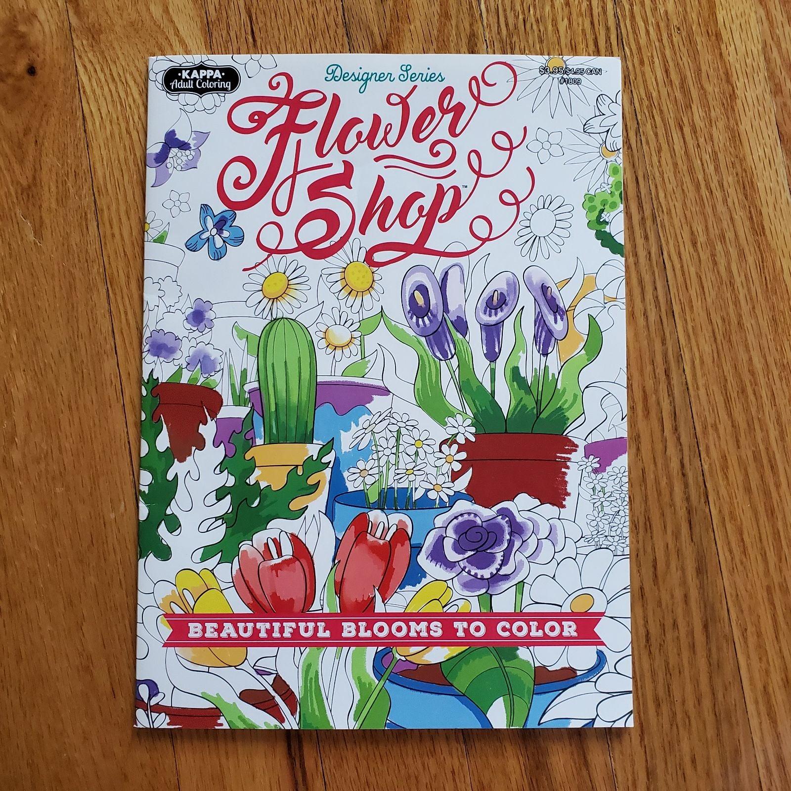 Adult Coloring Book FLOWER SHOP FLORAL