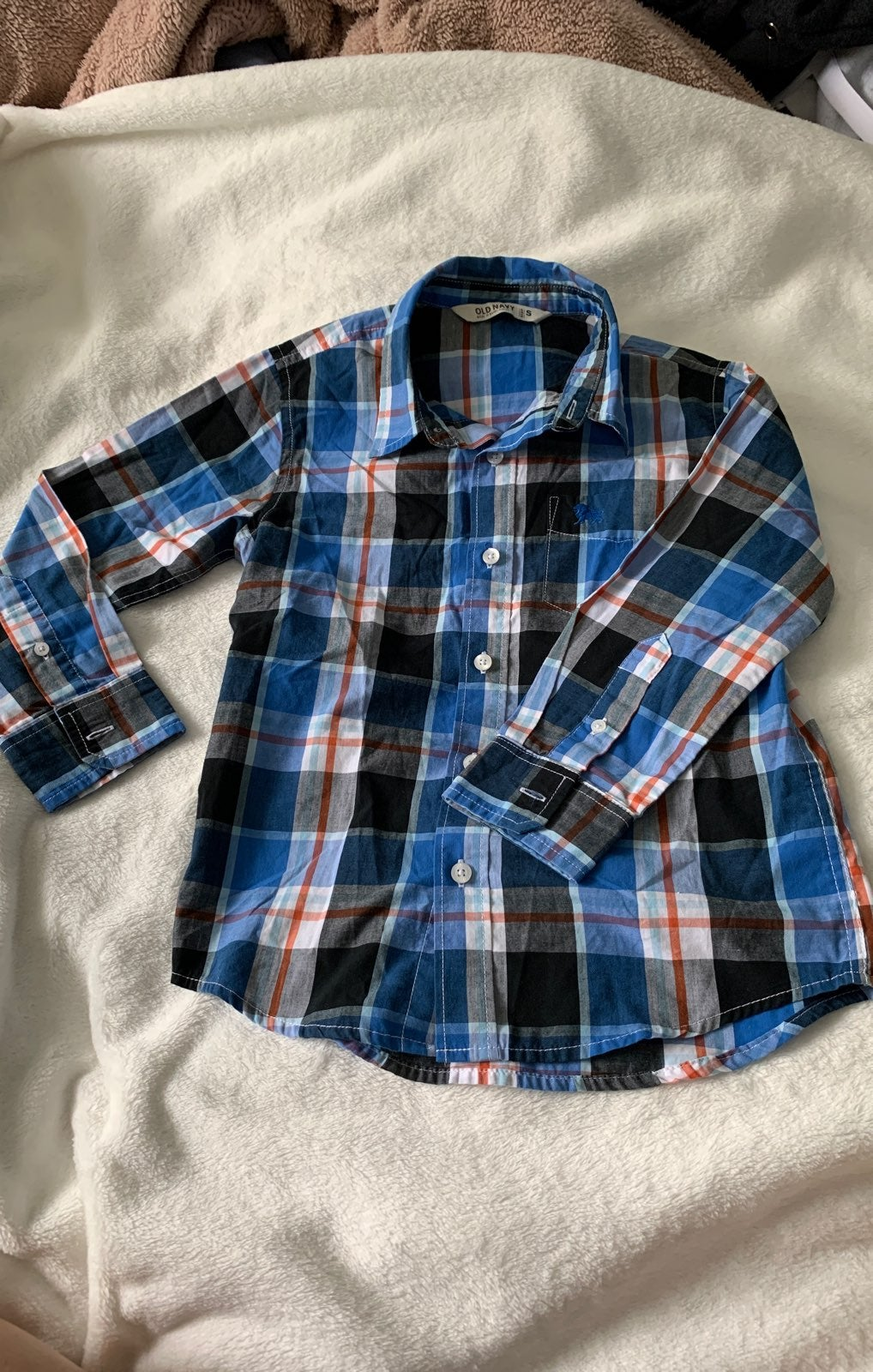 old navy youth plaid shirt