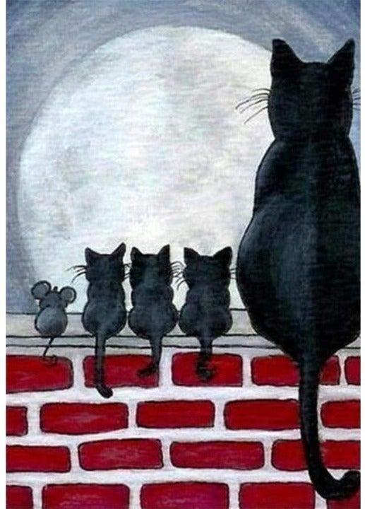 CATS - ROUND  DIAMOND PAINTING KIT