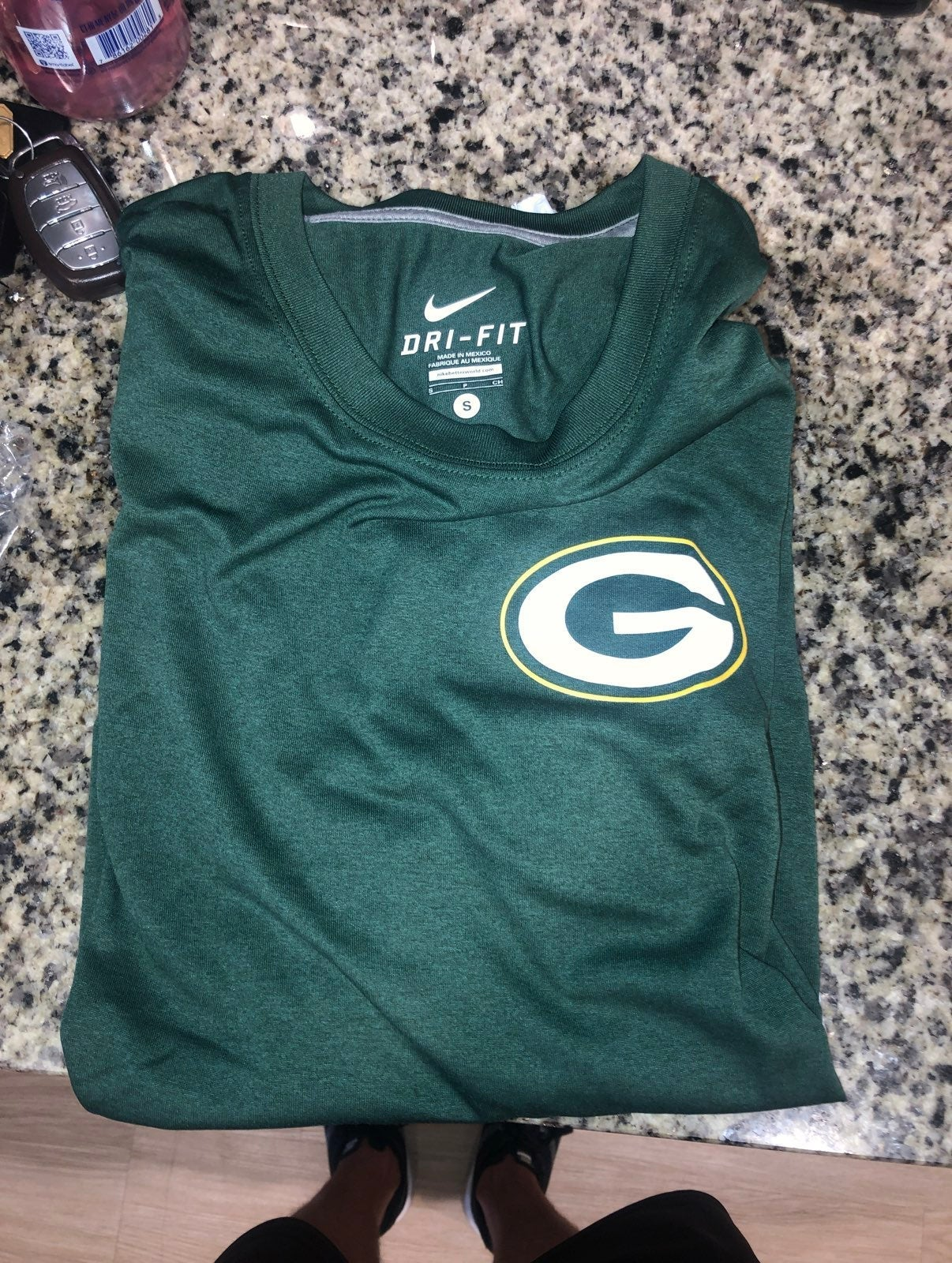 Mens Green Bay Packers Dri-Fit Shirt