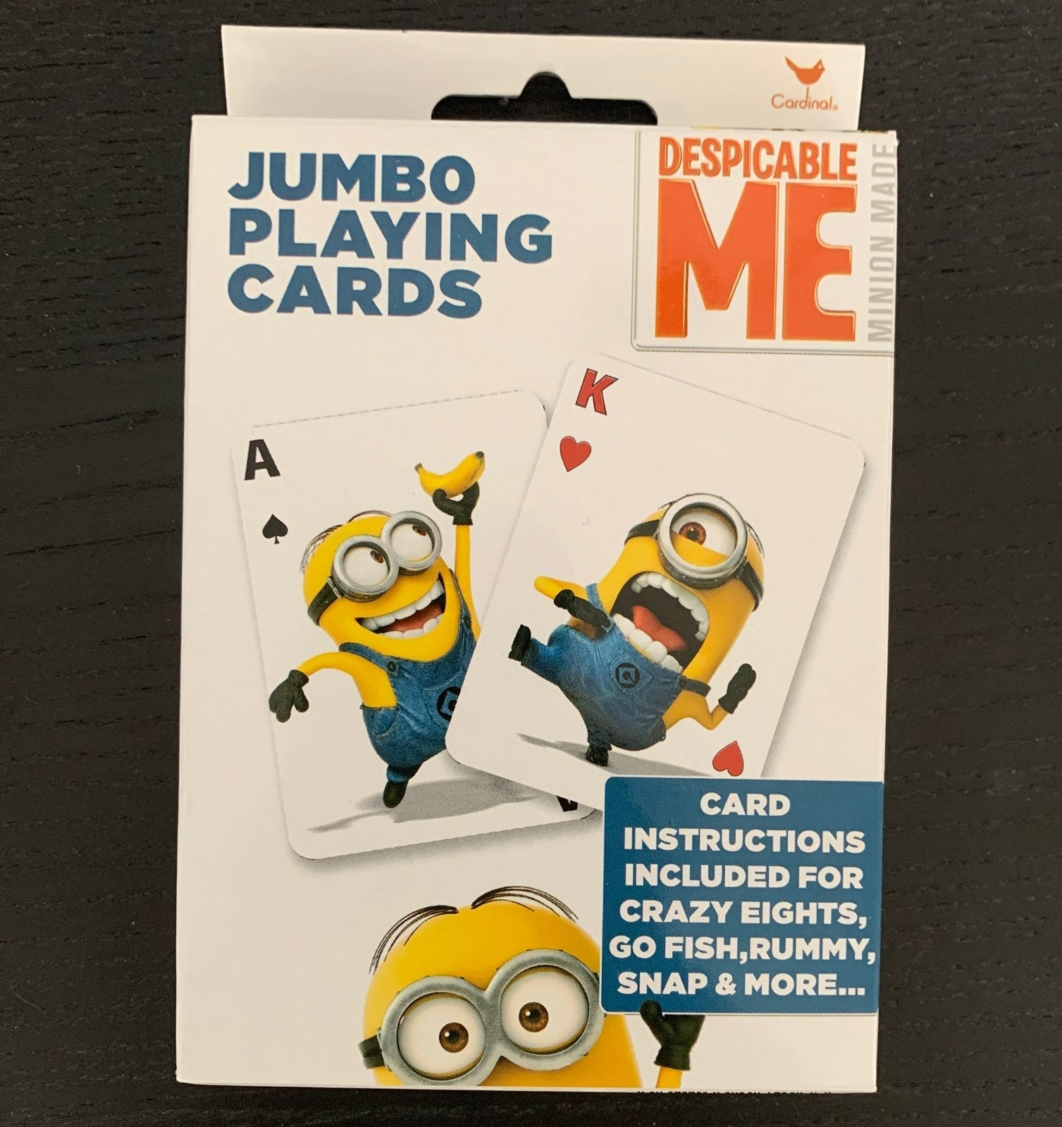 NEW Minions jumbo playing cards