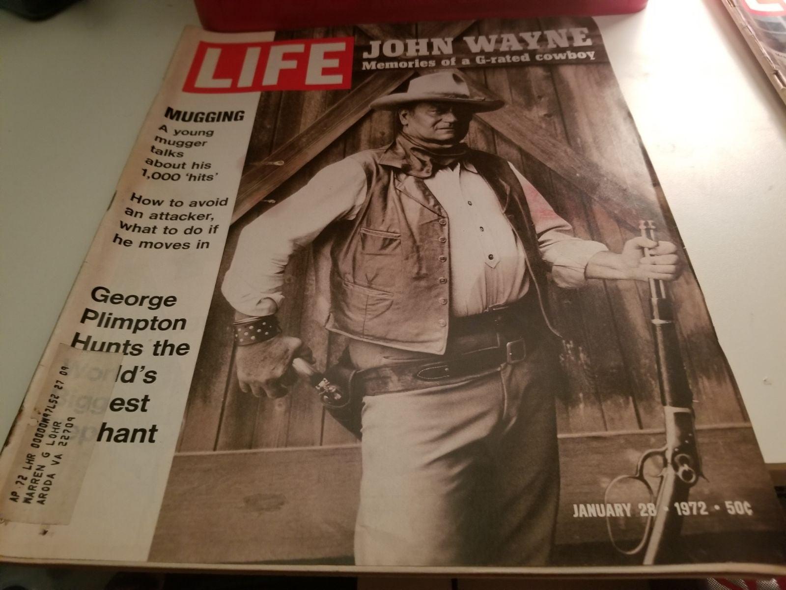 John wayne vintage life magazine