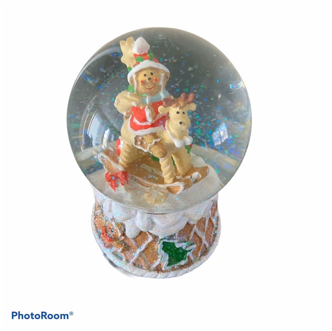 NEW Cookie Dough Gingerbread Snow Globe