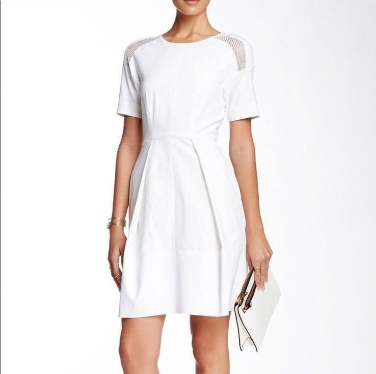 Rebecca Taylor White Poplin Dress Sz 6