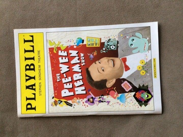 Playbill Pee Wee Herman Show