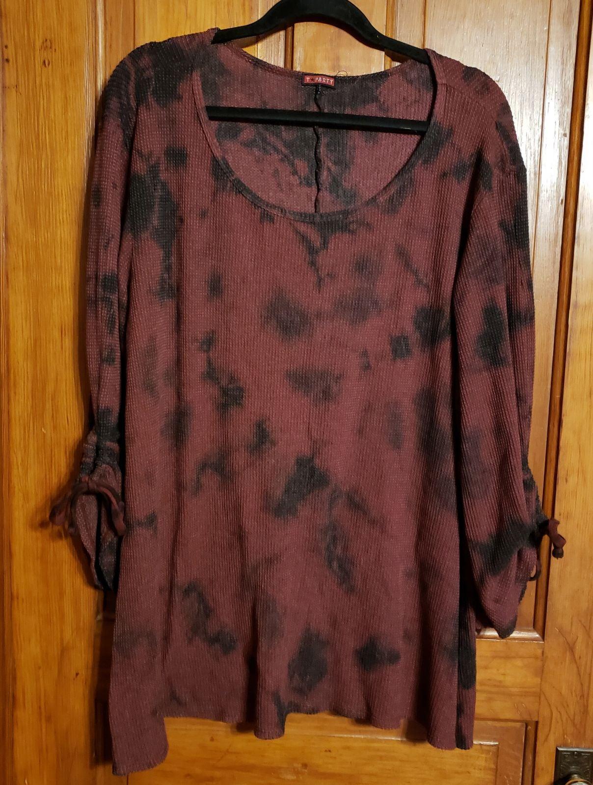 Womens 2X T Party Tie Dye Sweater