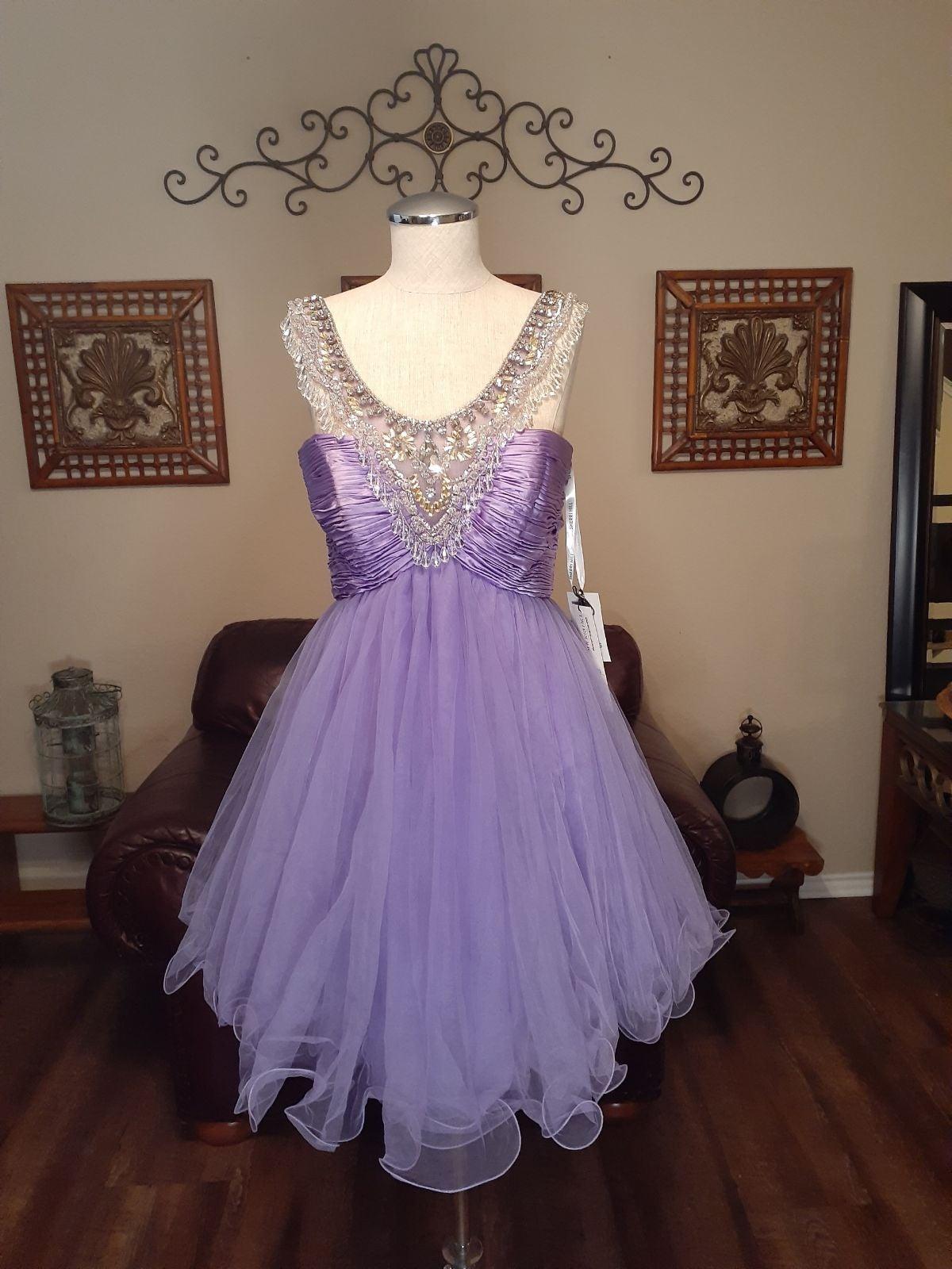 NWT Sz 4 Lavender Sherri Hill Prom Dress