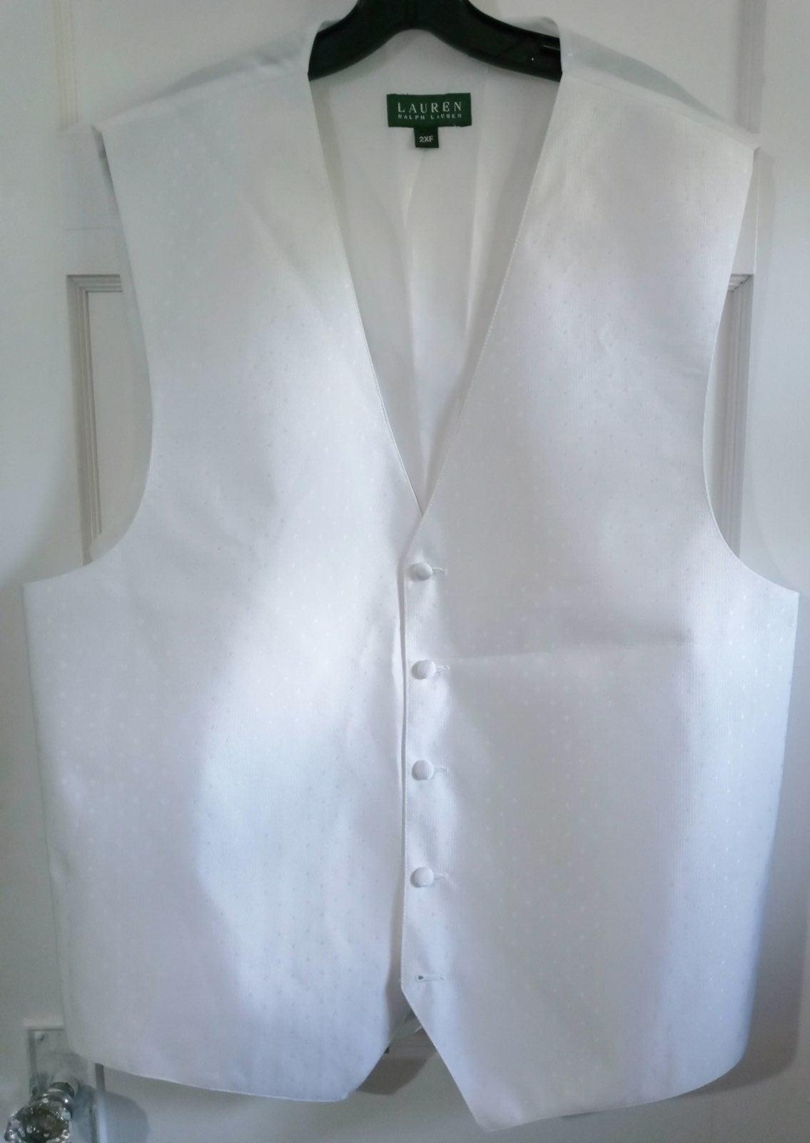 Lauren by ralph lauren white vest men sz