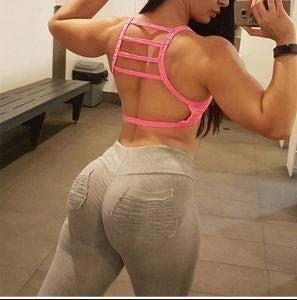 Grey women's Yoga Pants large