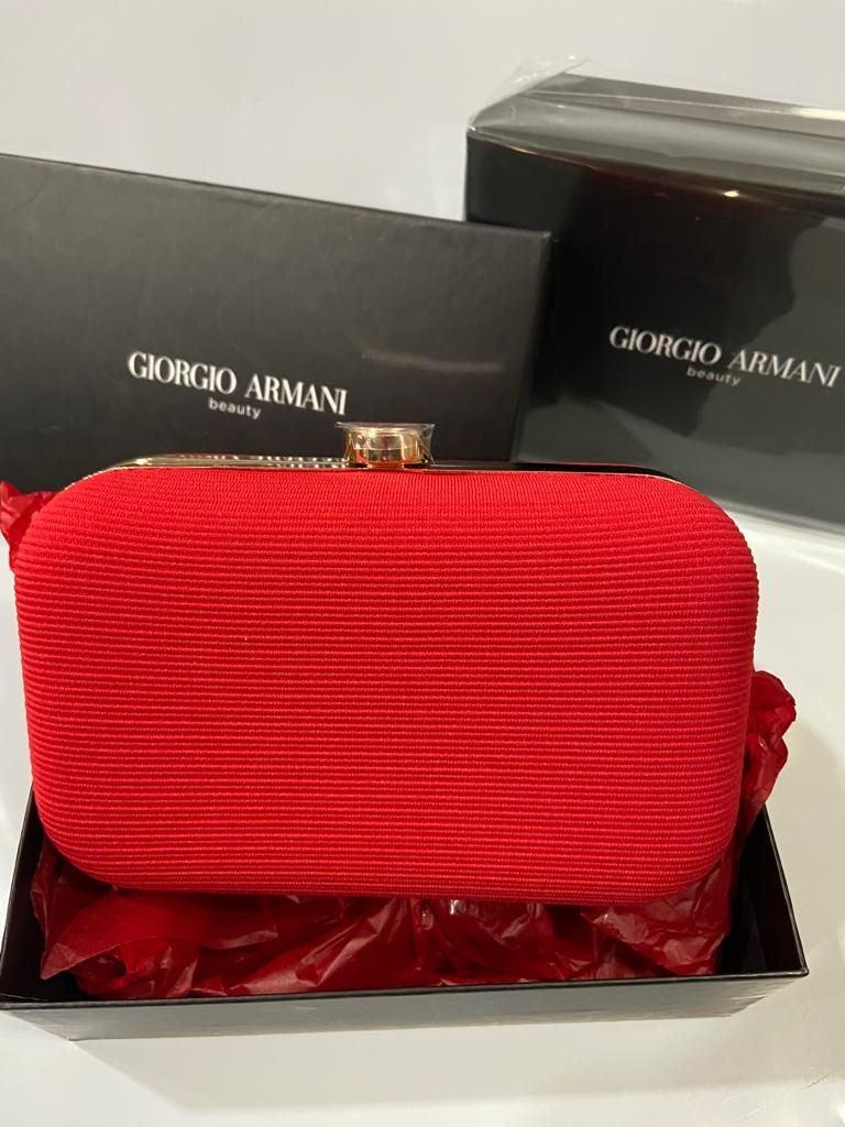 Giorgio Armani Red clutch