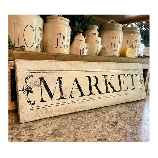 Farmhouse market sign