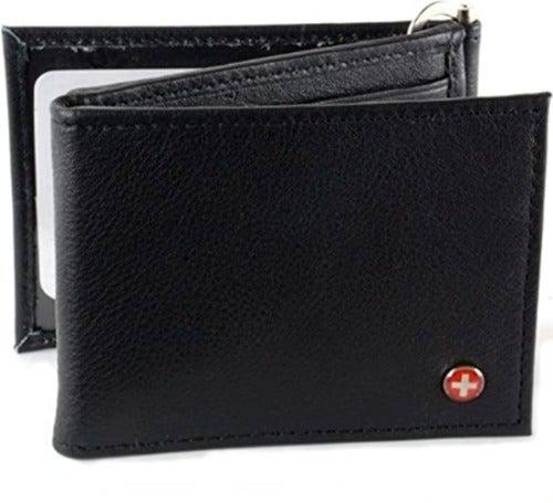 Alpine Swiss Men's Leather Z Wallet New!
