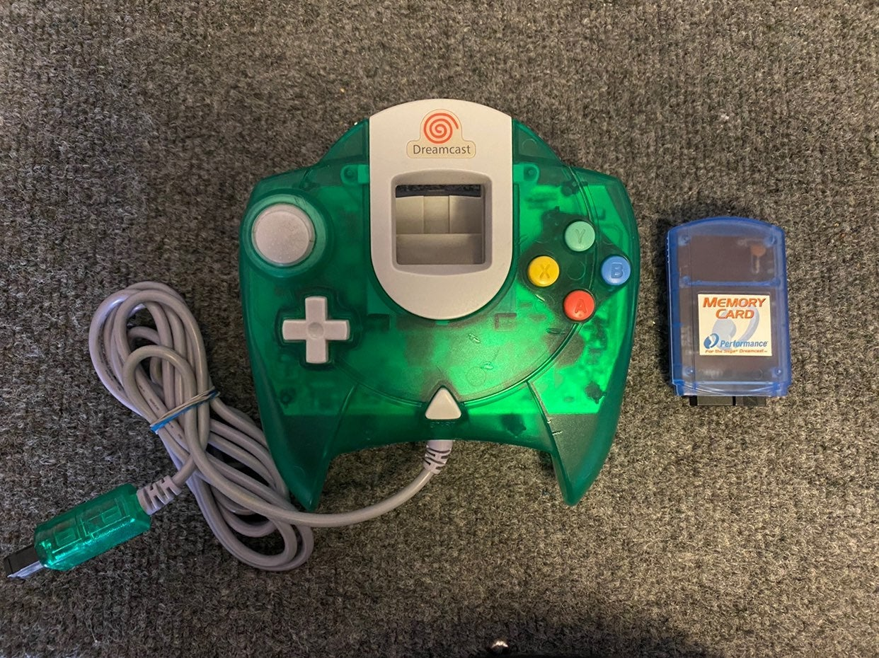 Official Sega Dreamcast OEM Clear Green