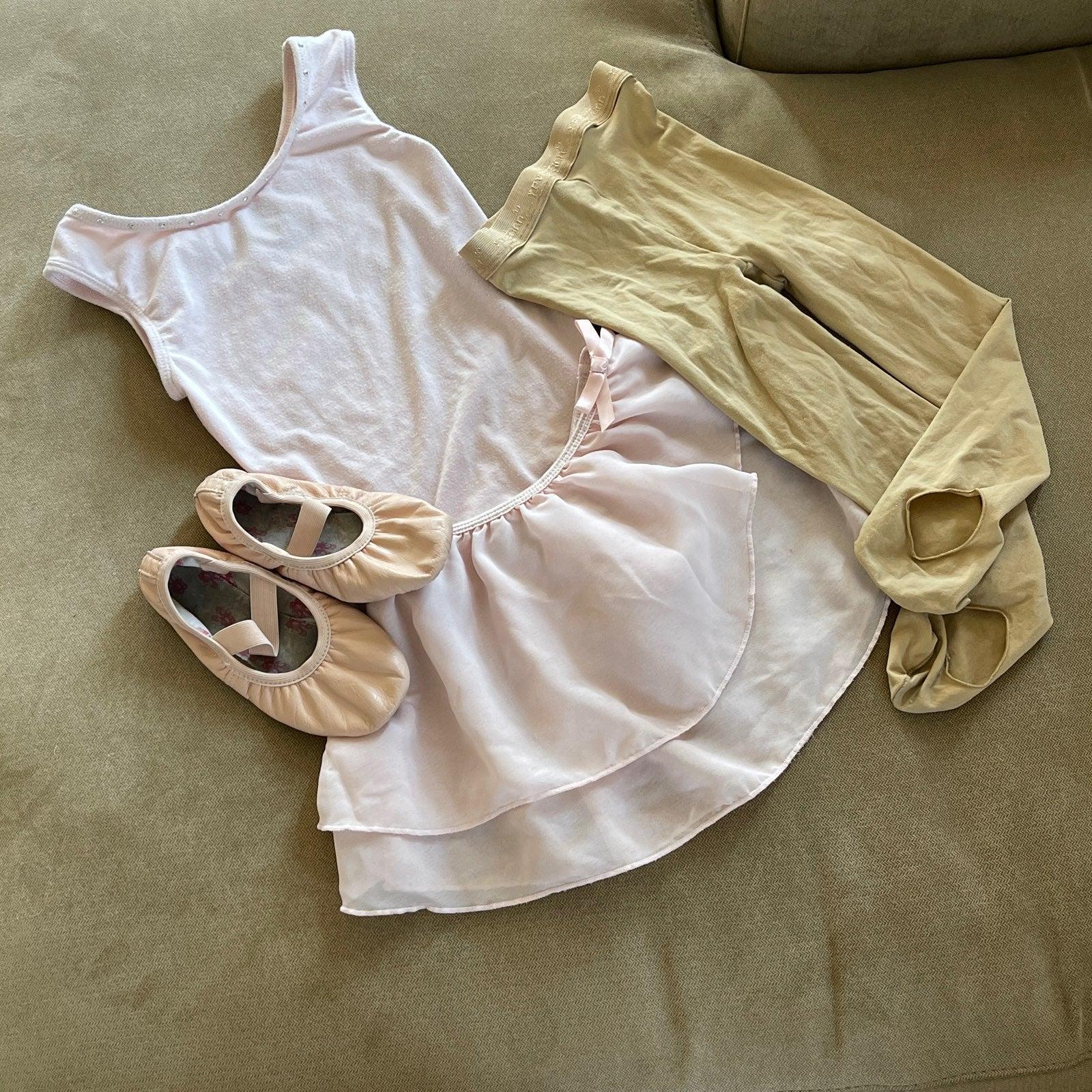 Little girl ballet suits & shoes bundle