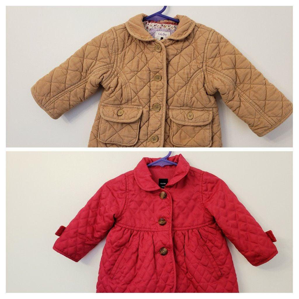 2 Baby Girl Coat Baby Gap 6-12 mos