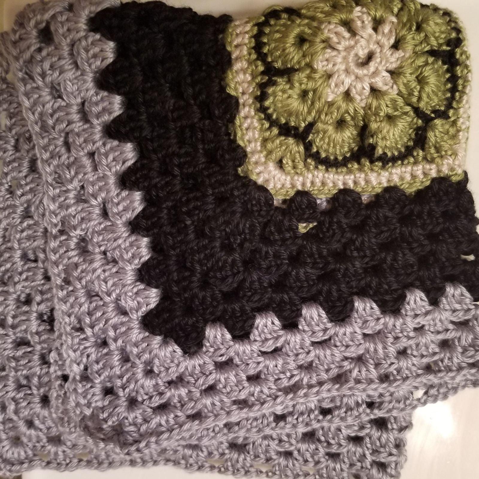 Four Square Flower Premie Blanket