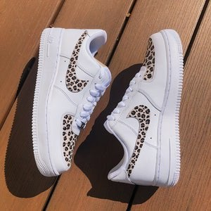 Cheetah print Air Force ones