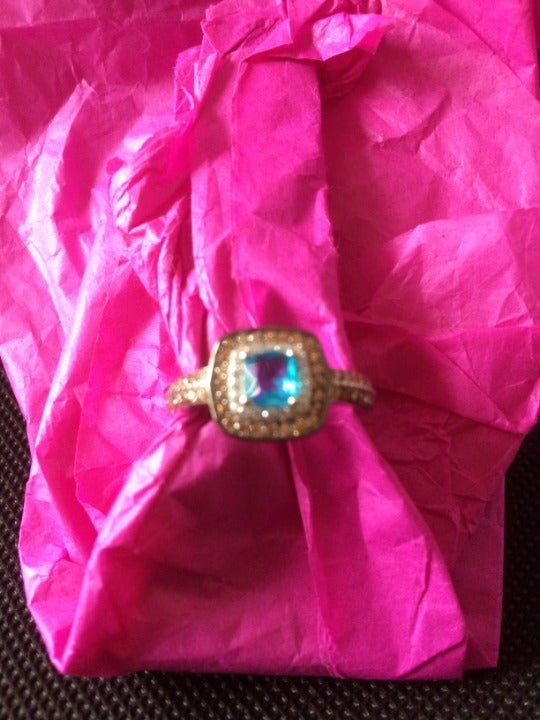 Ginger Lyne Coco blue ring size 8