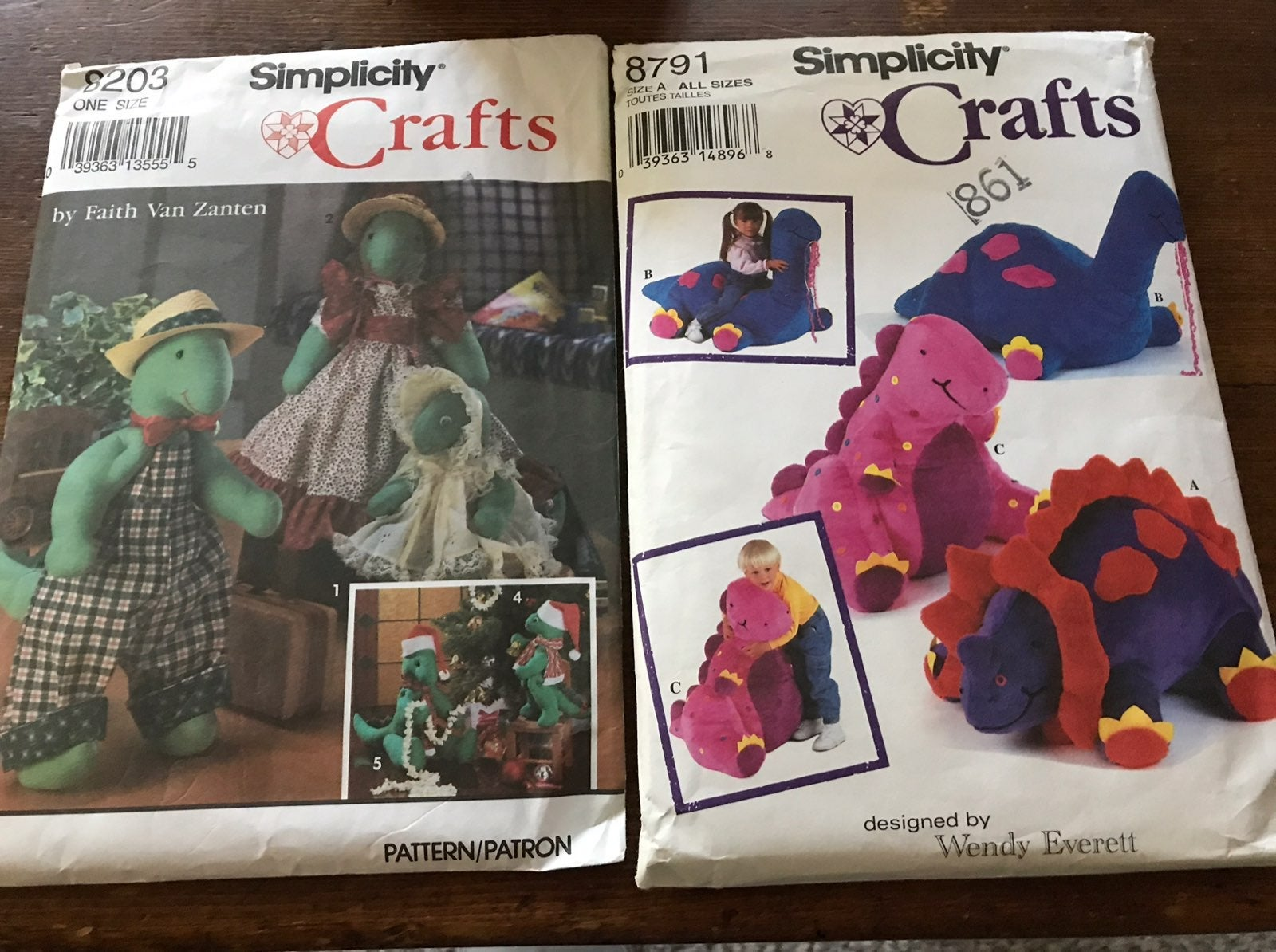 8791 8203 Simplicity Crafts Sewing patte