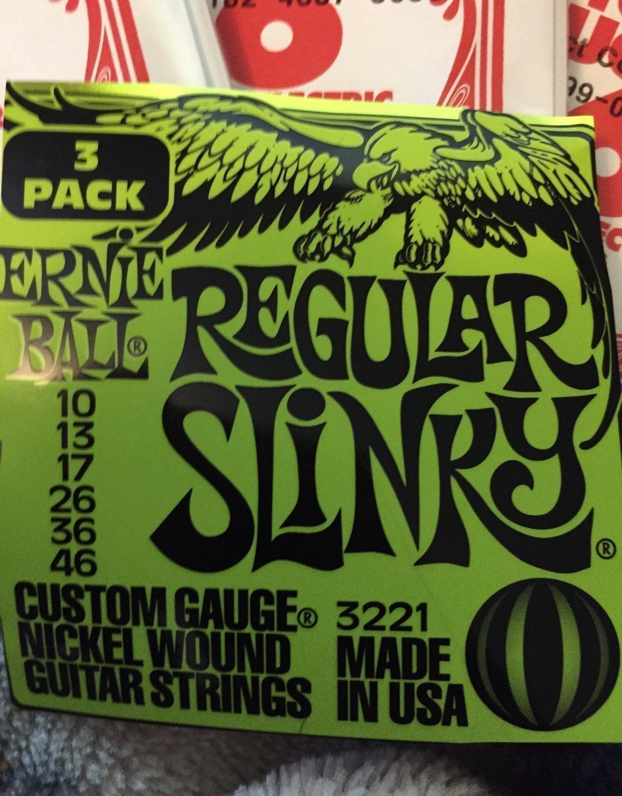 3 full sets of Ernie Ball strings