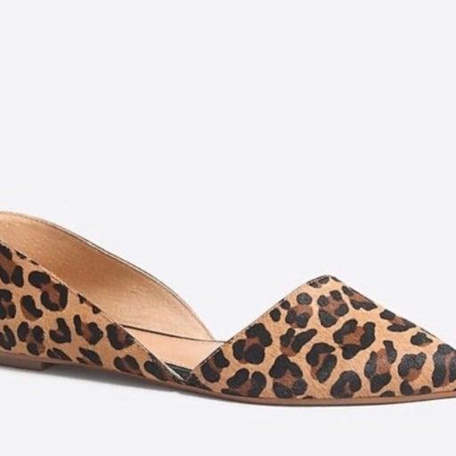 J. Crew Leopard Print Pointy Toe Flats