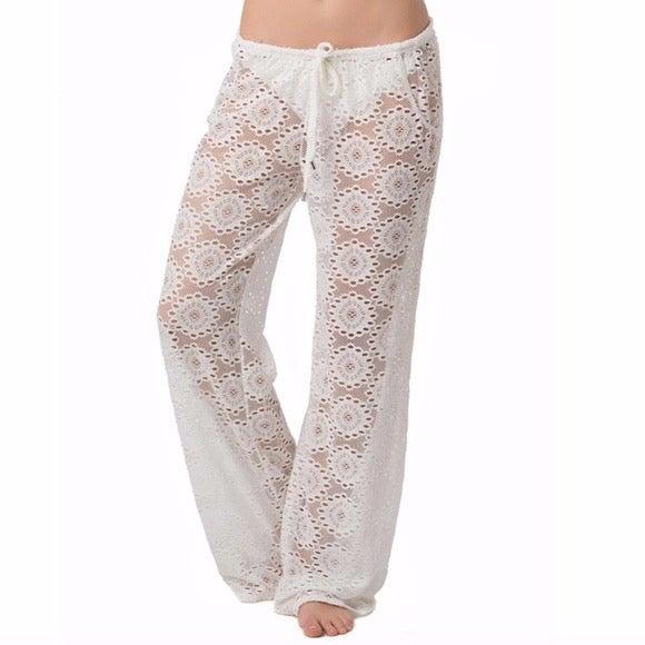 LAUNDRY SHELLI SEGAL Lace Coverup Pants