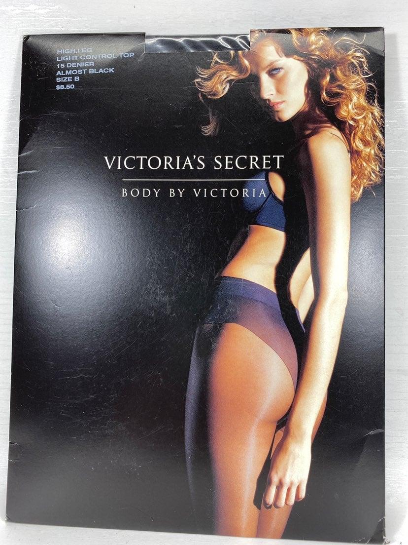 Victoria's Secret High Leg Black B Hose
