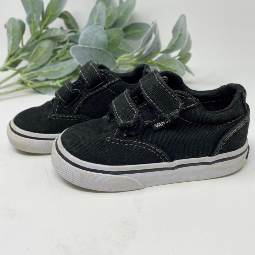 Vans Toddler Black Canvas Shoes Size 5