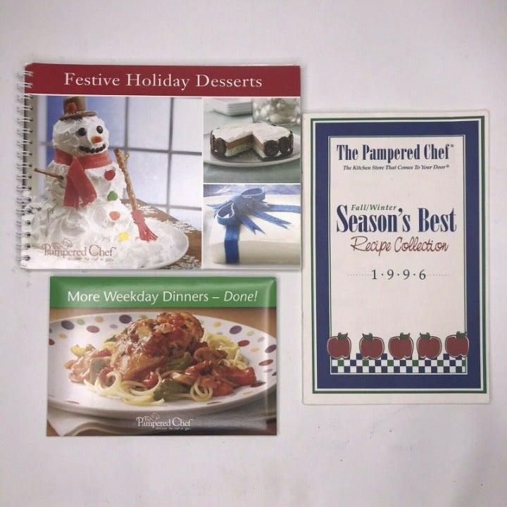 Pampered Chef Cookbook Lot Festive Holid