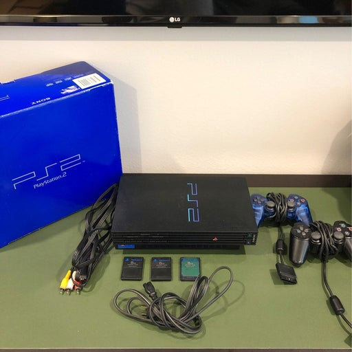 Tested Playstation 2 (PS2) w/ 3 memory cards & 2 controllers