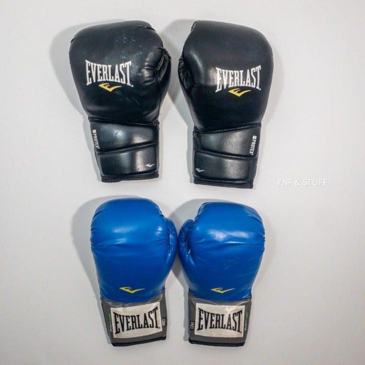 Everlast Boxing Gloves 16oz & Blue 10oz