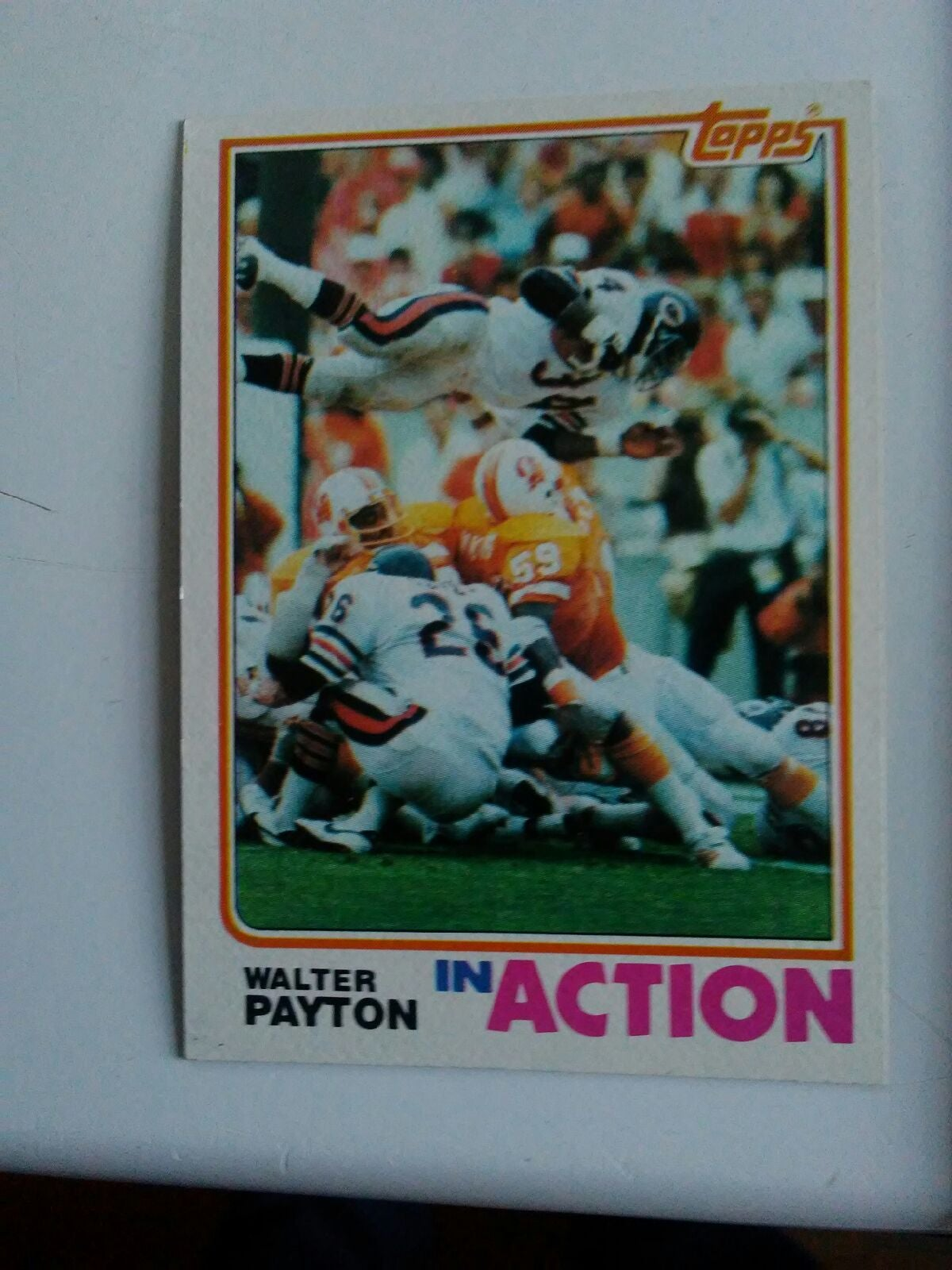 1982 Walter Payton In Action football ca