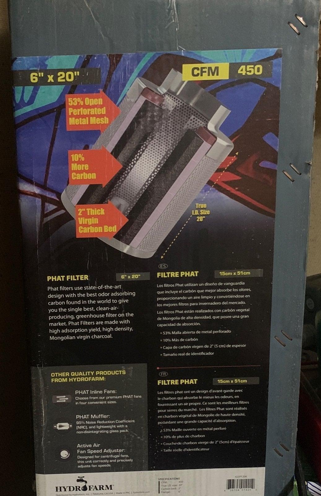 PHAT carbon filter 6-20 450 cfm