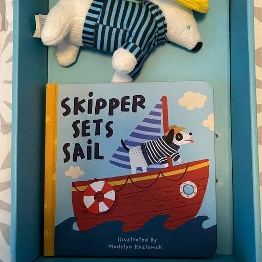 Manhattan Toys board book and plush set Skipper Sets Sail