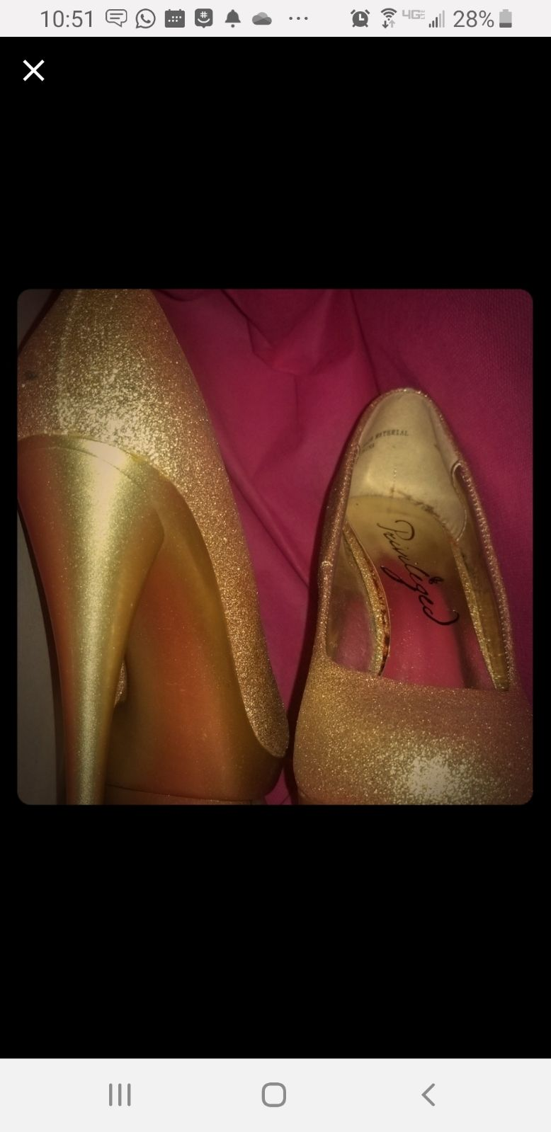 Gold Platform Pumps sz 6