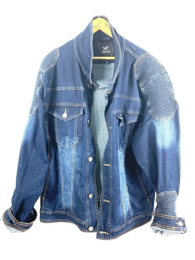 XRAY Jeans Denim Distressed Look Jacket