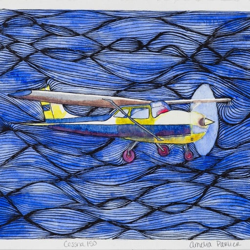 """Cessna"", Fine Art Print, 8x8"