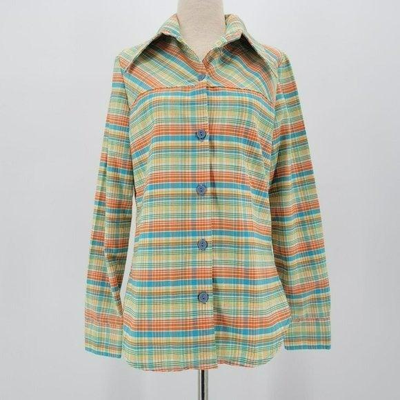 Vintage JC Penney Fashions Plaid Shirt
