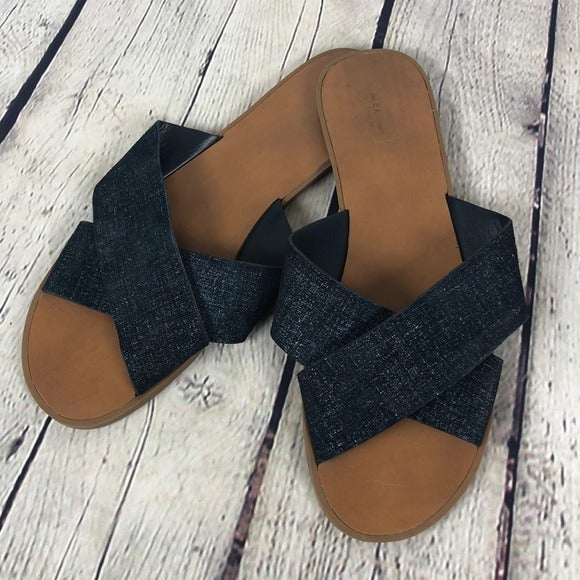 Alex Marie blue leather sandals, size 9