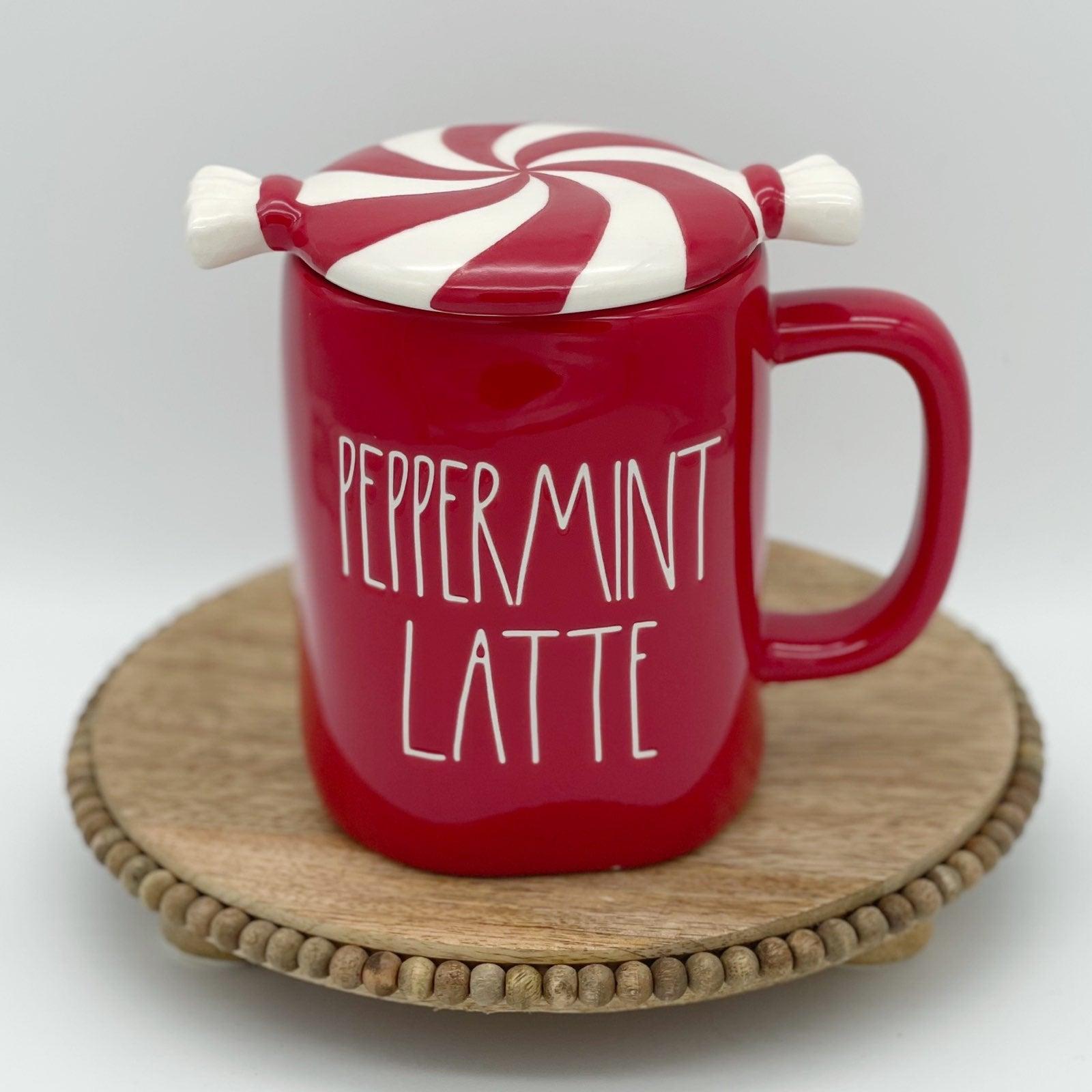 Rae Dunn peppermint latte mug