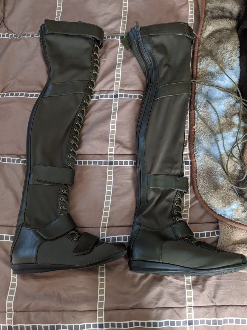 size 9 over the knee boot