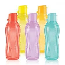 5 small eco water Bottles tupperware 16