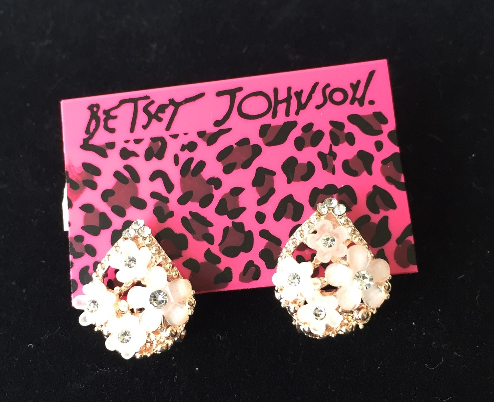 Betsey Johnson earrings, mini flowers