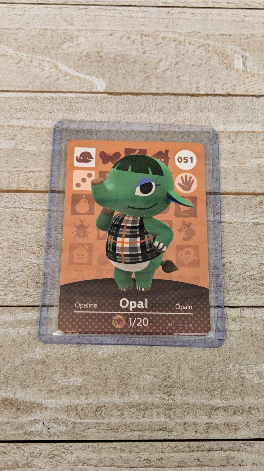 Animal Crossing Amiibo Card Opal
