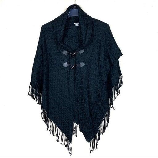 CROFT & BARROW basket weave poncho