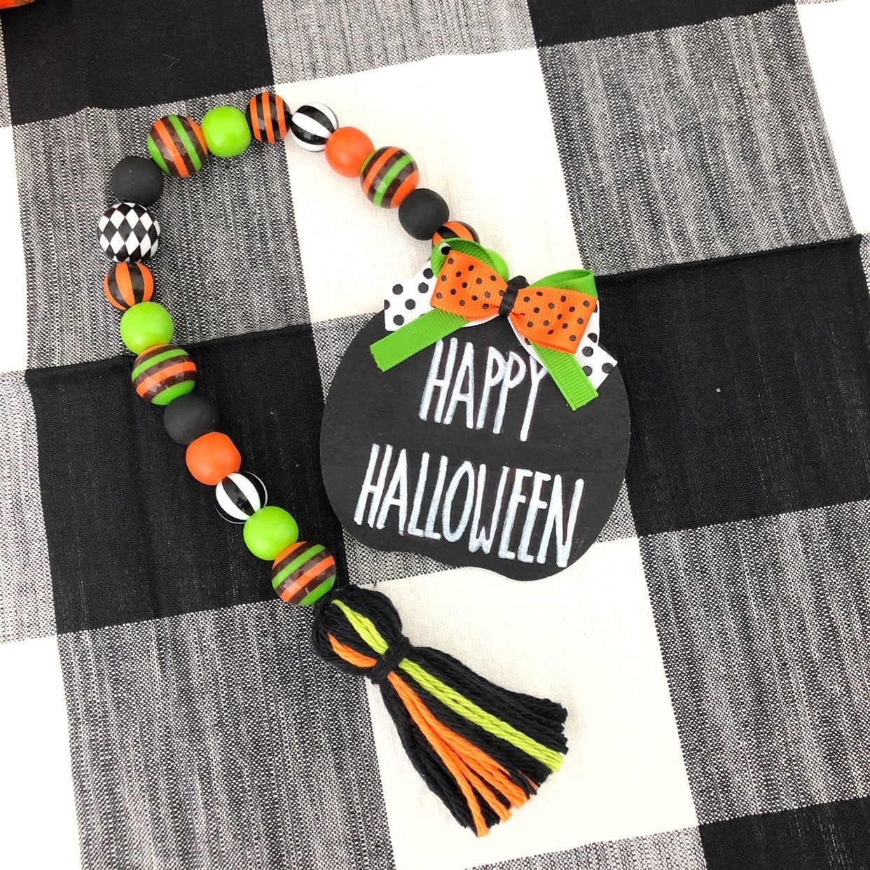 Farmhouse Halloween Garland Beads