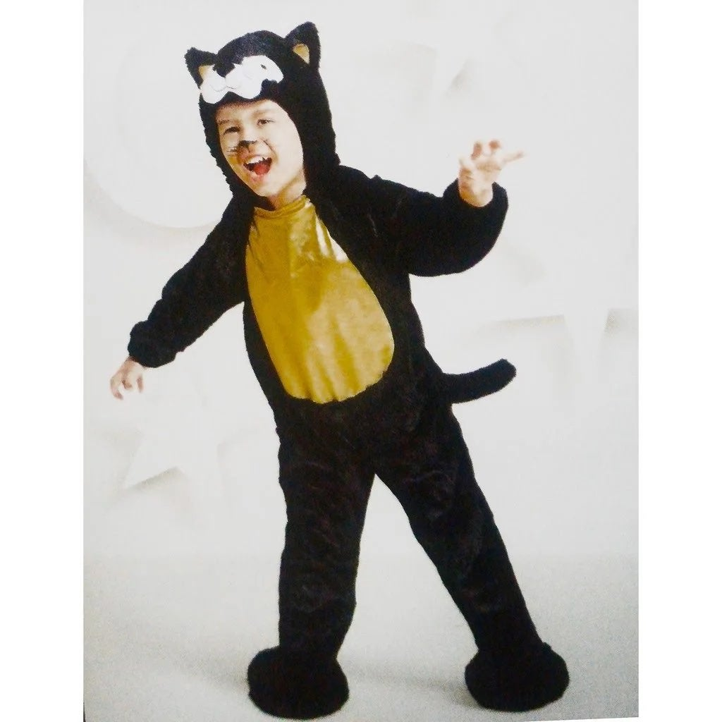 Black Soft Cat Costume 4-5T