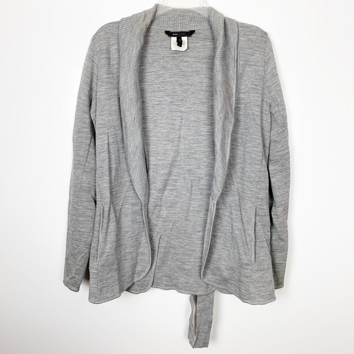 BCBGMaxAzria Grey Knit Cardigan Sweater